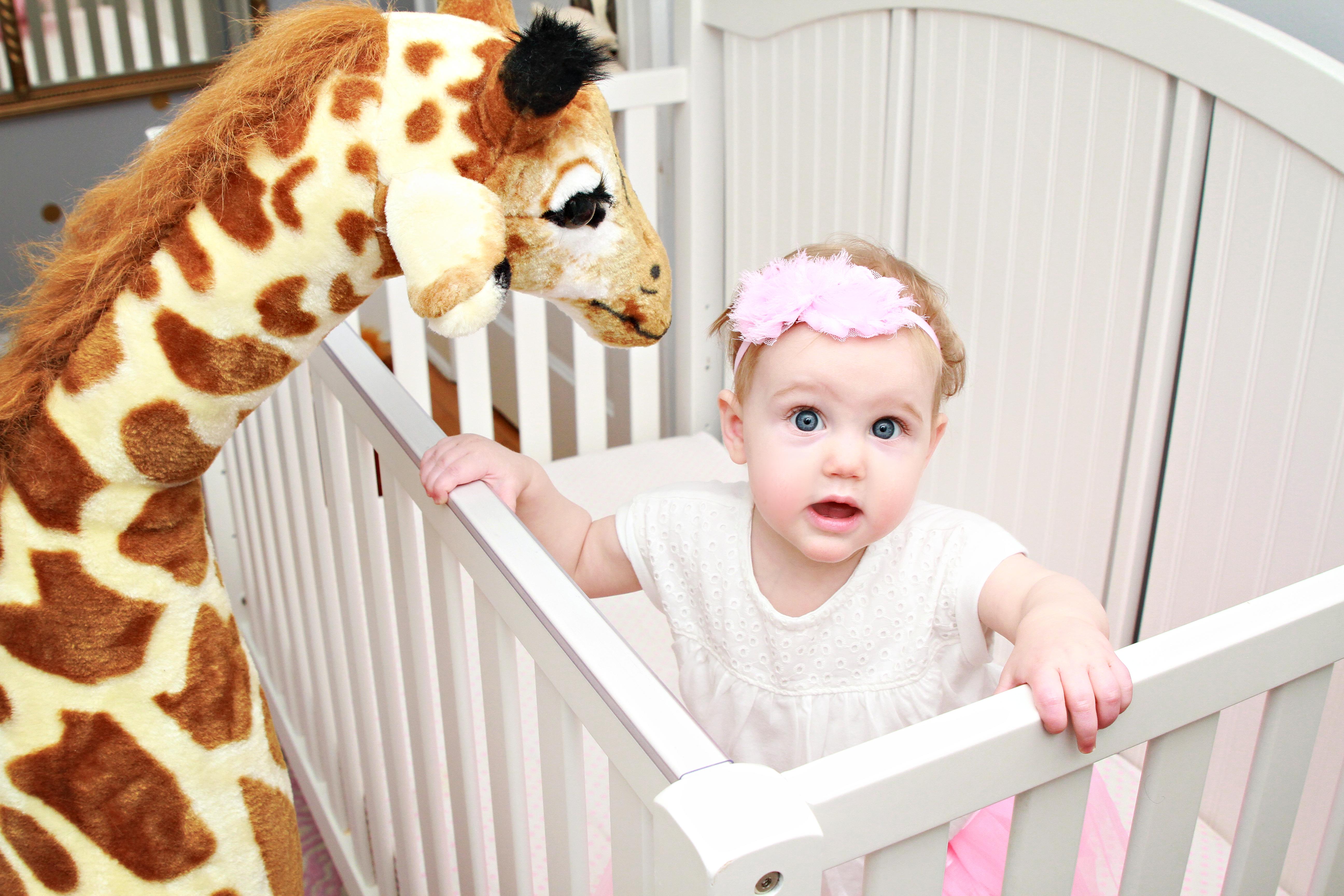 Taylor's Gold and Giraffe Themed Nursery - Shining on Design