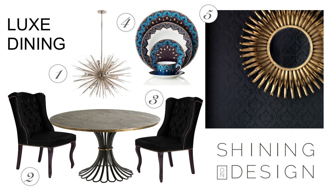 Luxe Dining Design Board