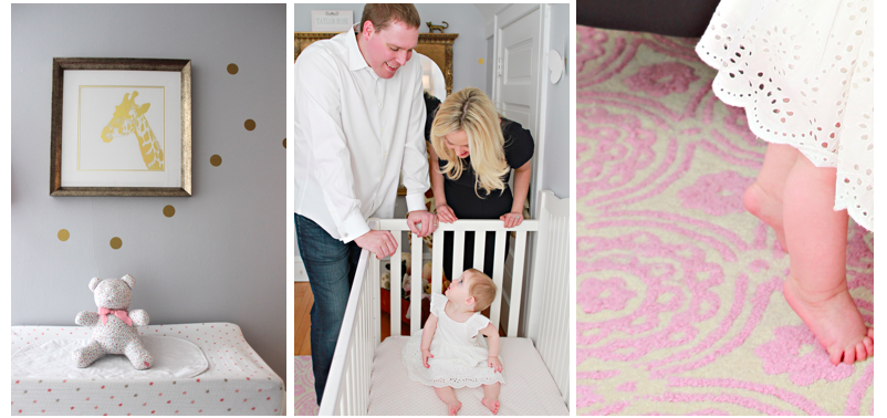 A Pink, Gold + Giraffe Nursery - Shining on Design