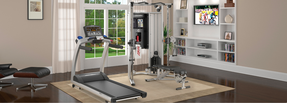 Dining room alternatives Living room gym