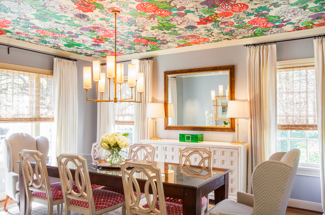 Wallpaper Ceilings - Shining on Design