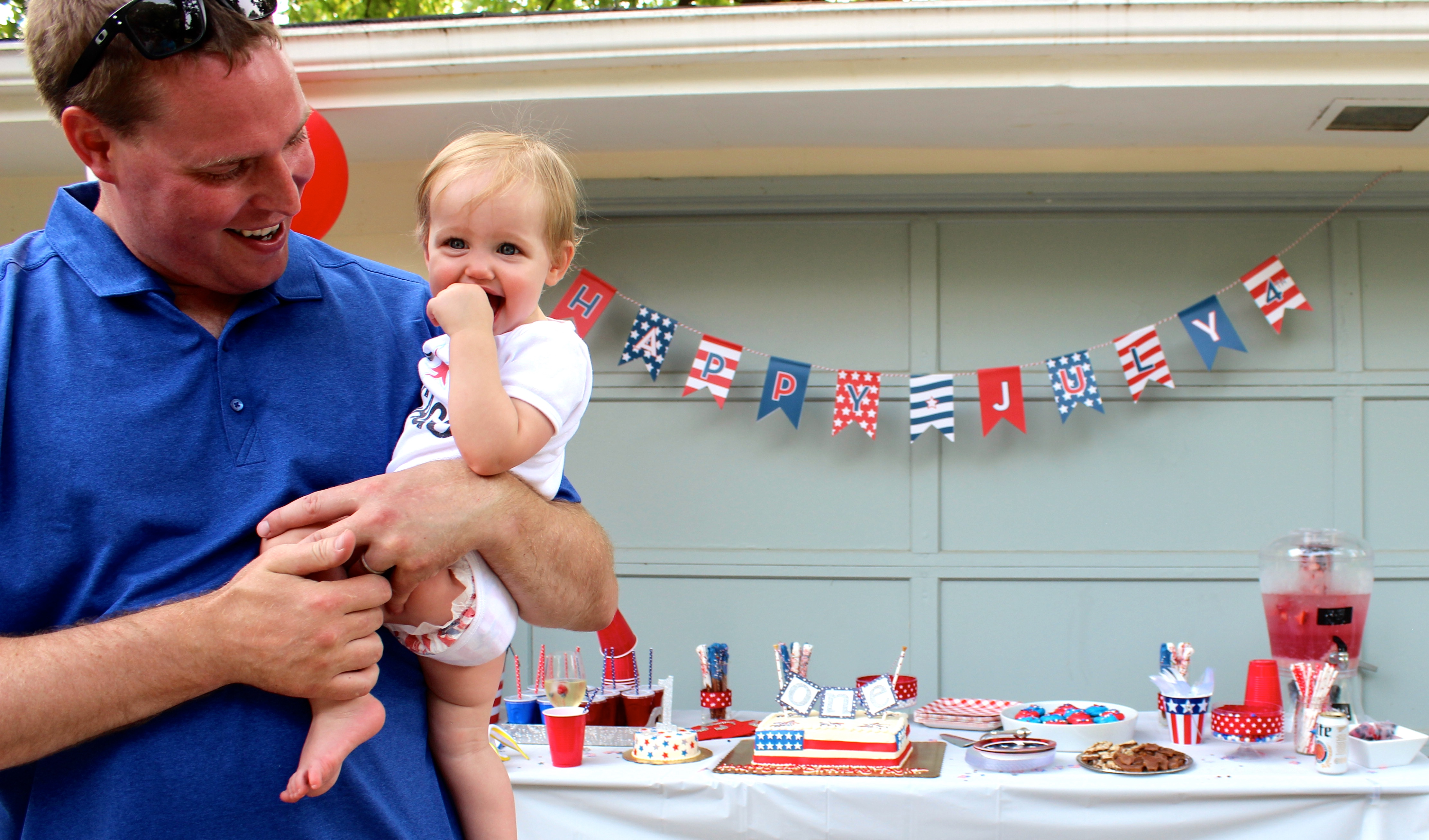 Taylor was a very patriotic birthday girl - even down to the Honest diapers!