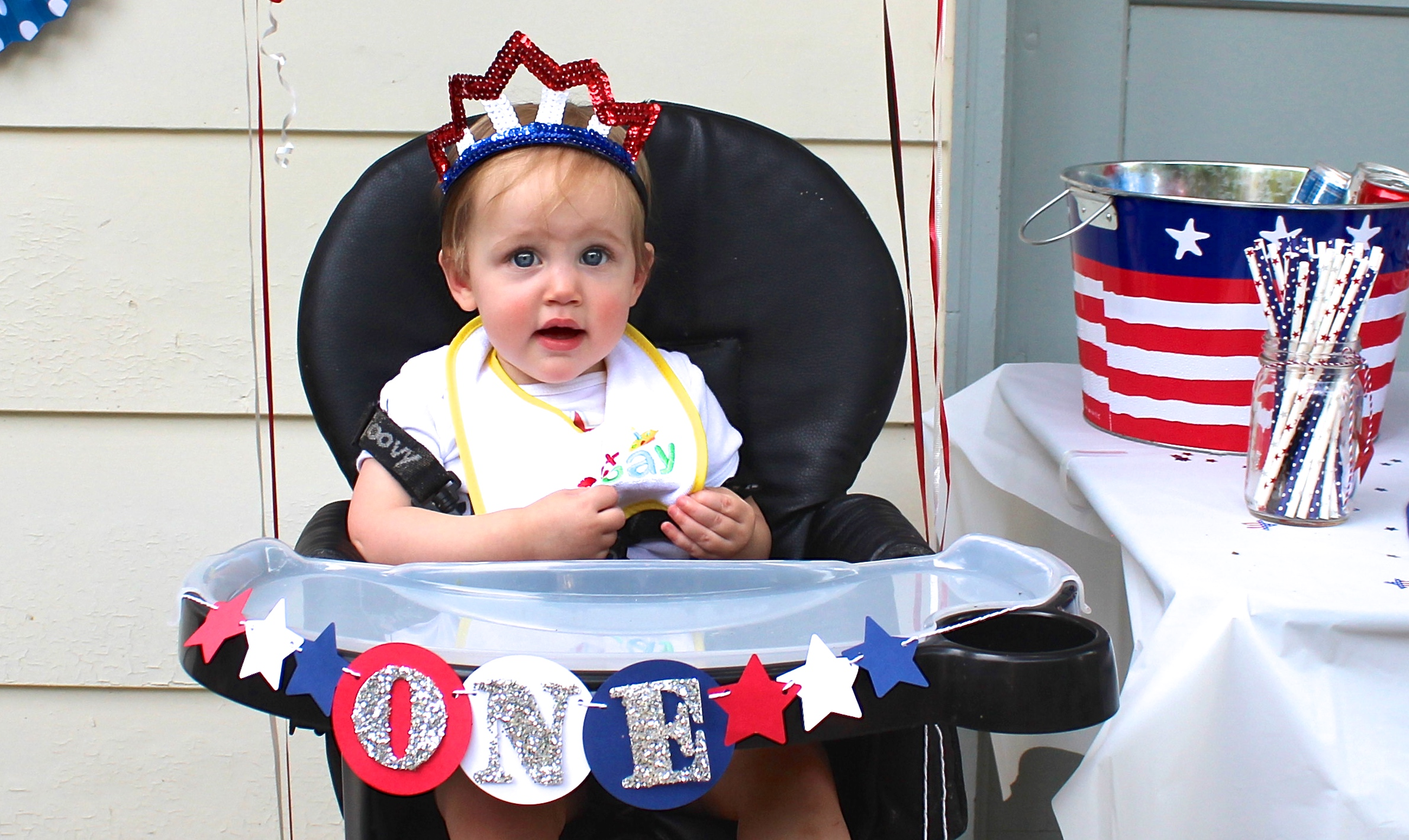 A Red, White and Blue 1st Birthday Party - Shining on Design