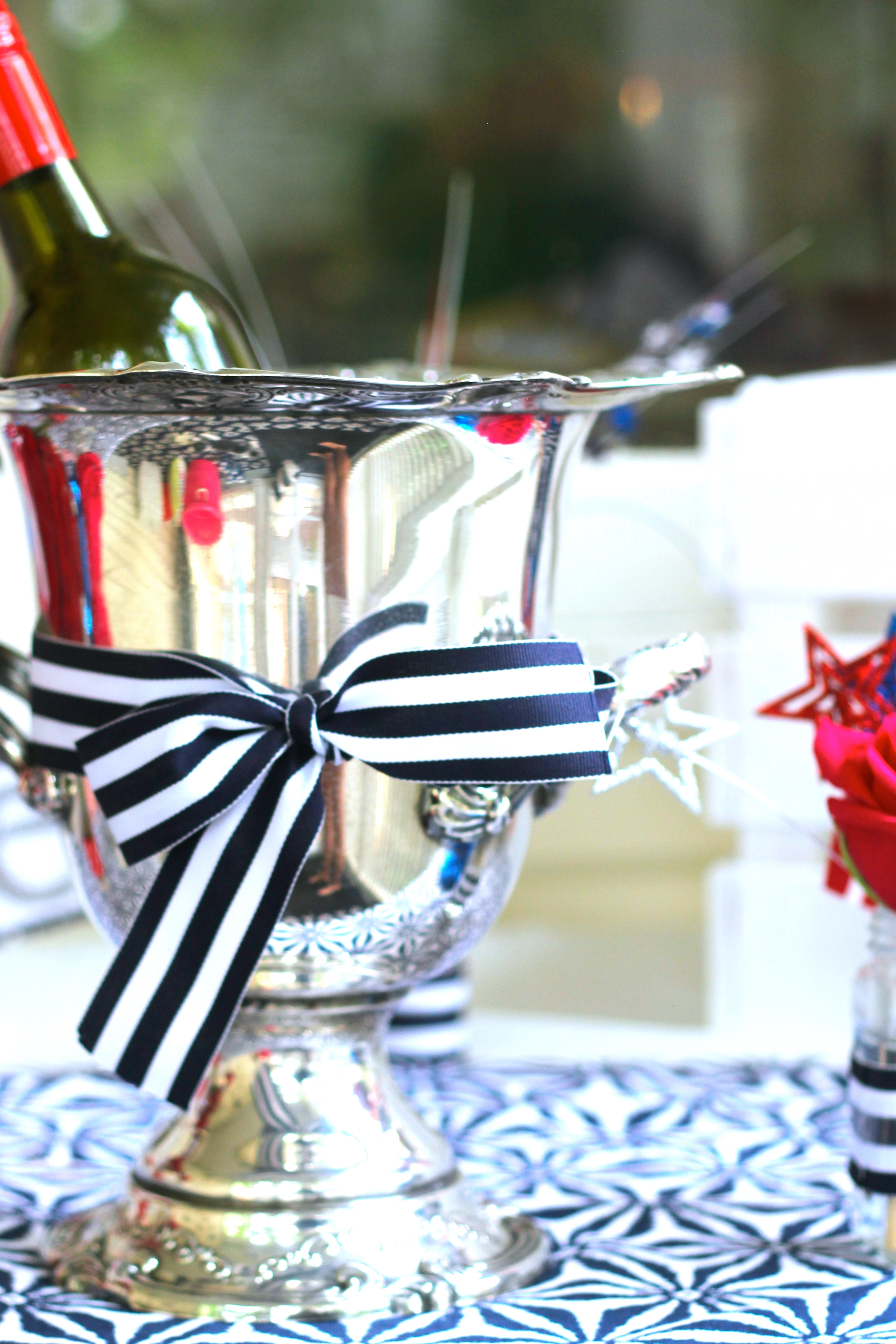A Red, White and Blue Birthday Party - Shining on Design