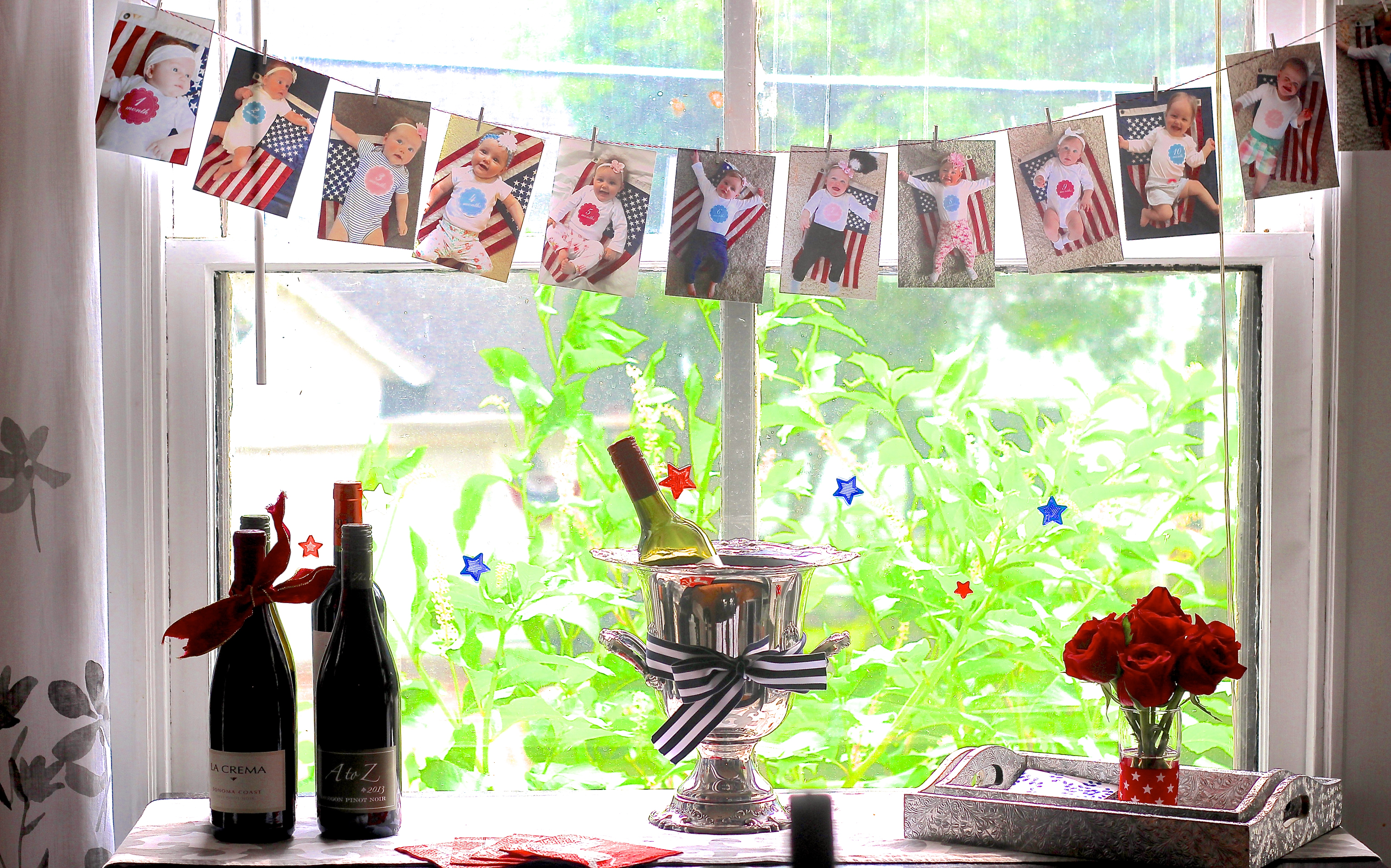 1st Birthday Party Monthly Photo Display - Shining on Design