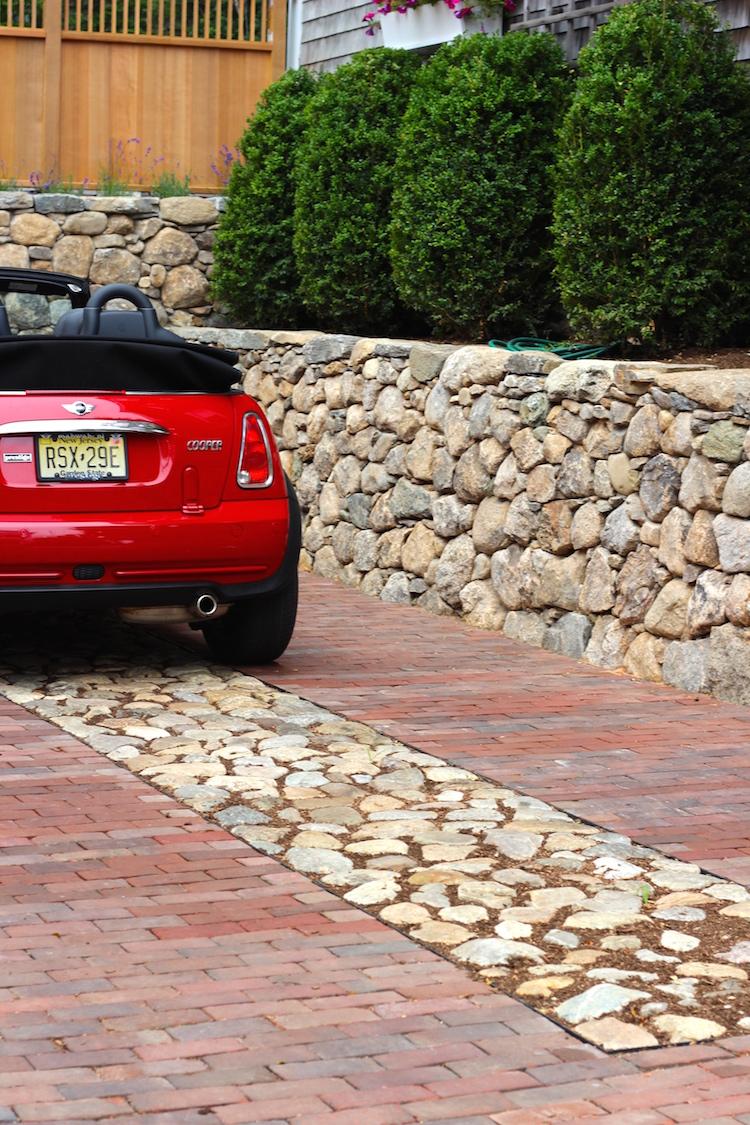 Brick and Cobblestone Driveway