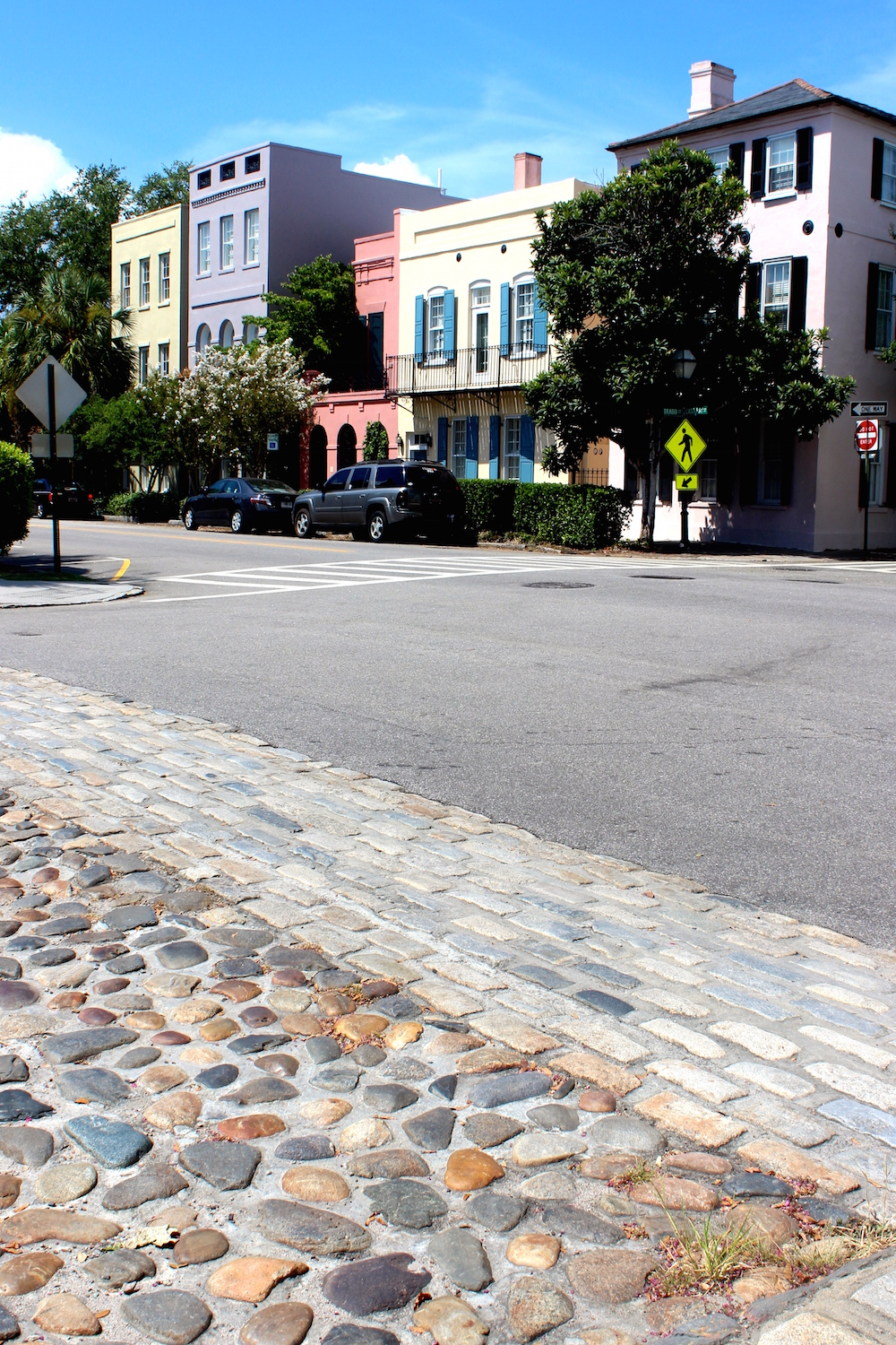 Rainbow Row - Horse-drawn carriage rides and cobblestone streets throughout Charleston bring you back in time | Shining on Design