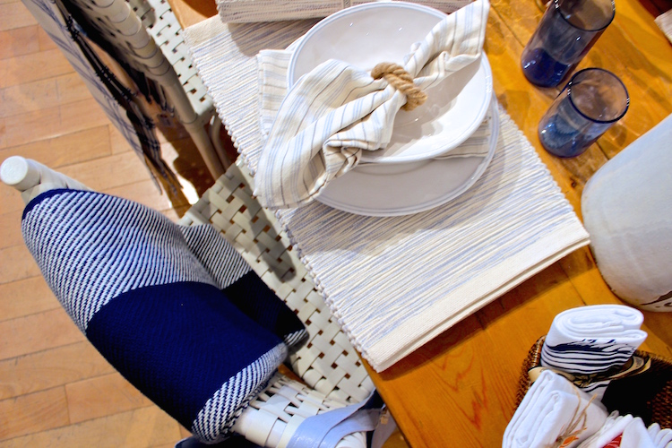 For the dining table.. Durable, handwoven placements & napkins with a timeless design - dish cloths also available!