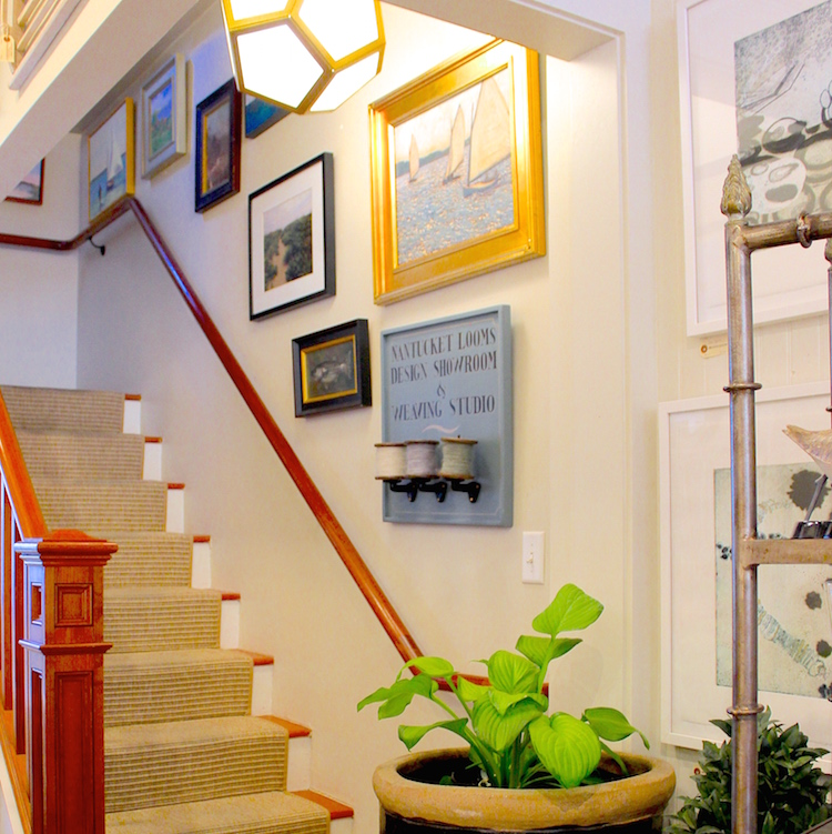 Nantucket Looms has plenty of delightful items and gifts in their downstairs retail boutique...but the real magic all happens upstairs!