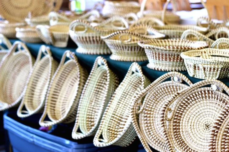 Handmade Baskets In Charleston : Charleston sweetgrass baskets shining on design