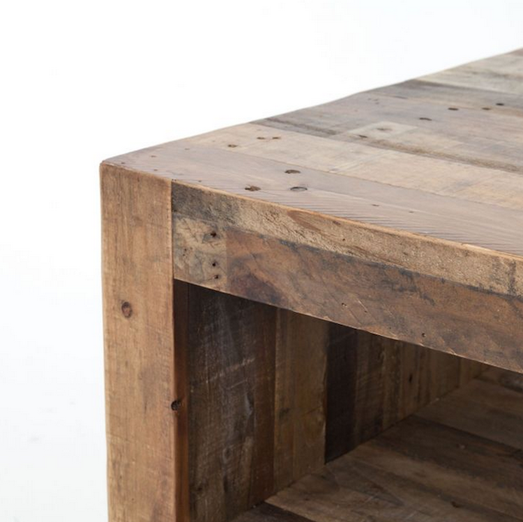 Add a natural element to any style livng space with these 6 Rustic Coffee Tables | Shining on Design