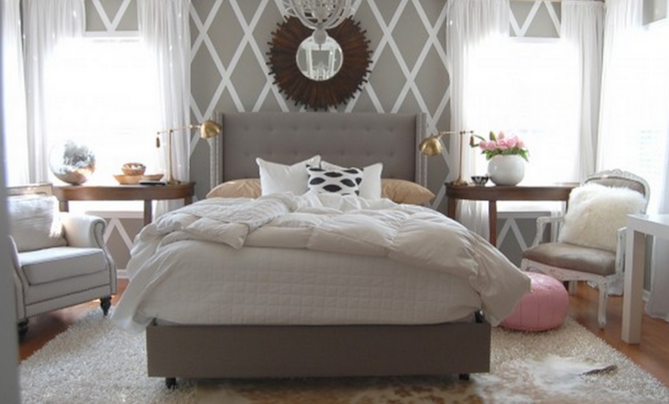 myquillyn known as the nester of the nesting place created this wall with - Redesign My Bedroom