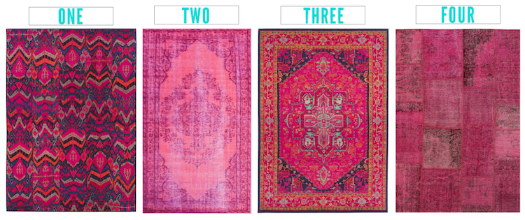 4 Pink Statement Rugs - Which to choose?!