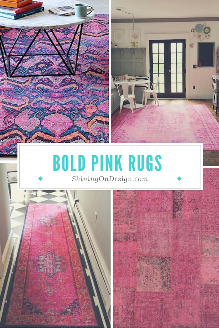 bold pink rugs