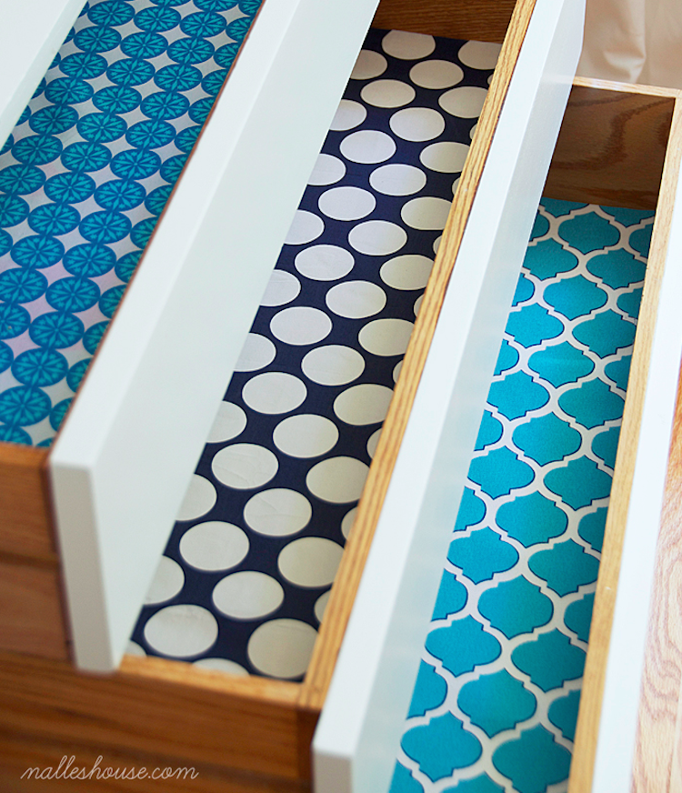 DIY Fabric Drawer Liners
