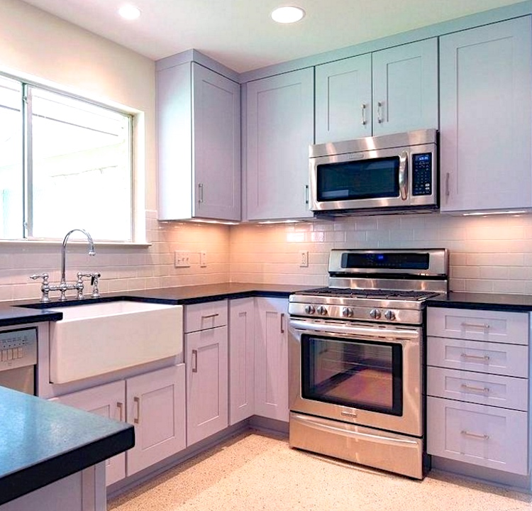 lavender cabinetry