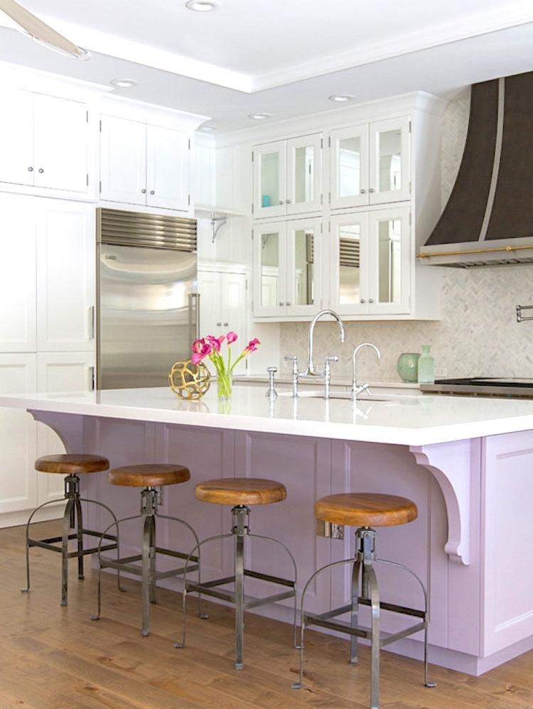 lavender kitchen island