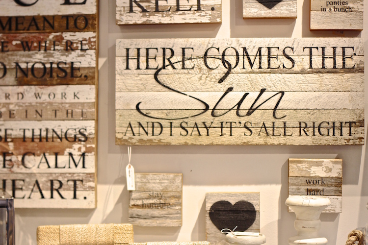 {wooden signs with inspiration quotes and sayings}