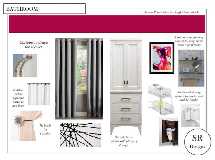 bathroom design board sample