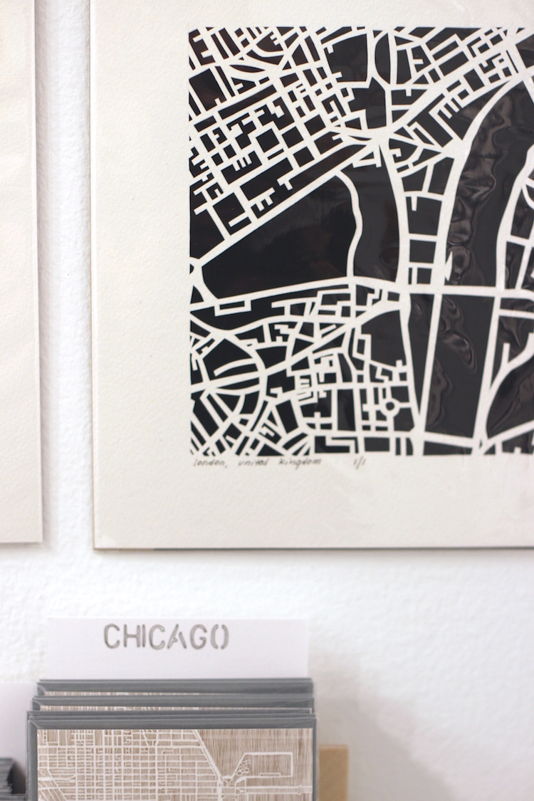 Studio KMO – Hand cut paper maps and city prints made by architect & mom Karen O'Leary