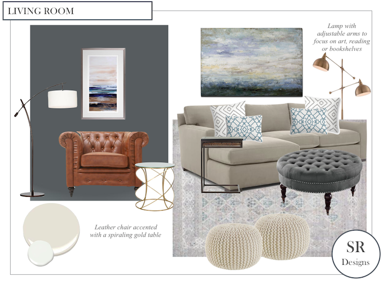Elmhurst IL Living Room Design Board