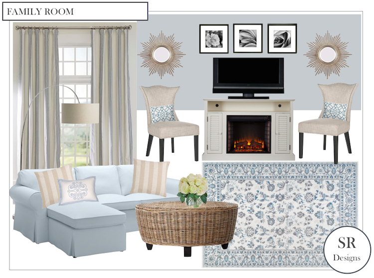 Family Room Design Board