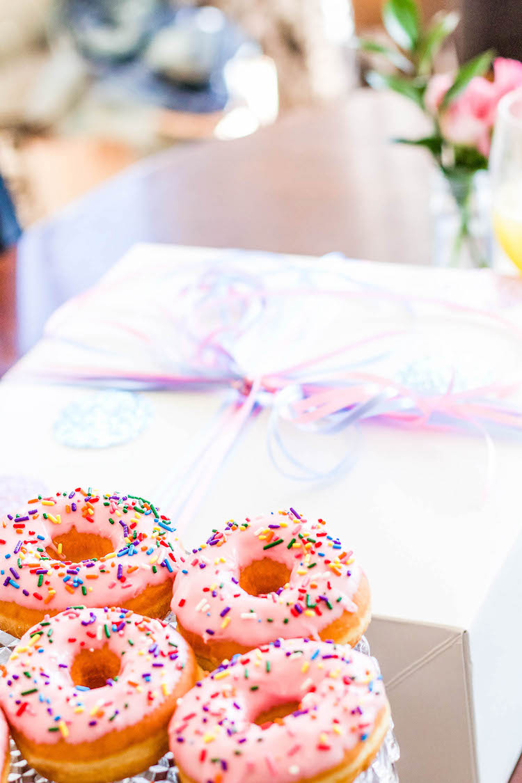 Sprinkled donuts, a must for brunch parties :)