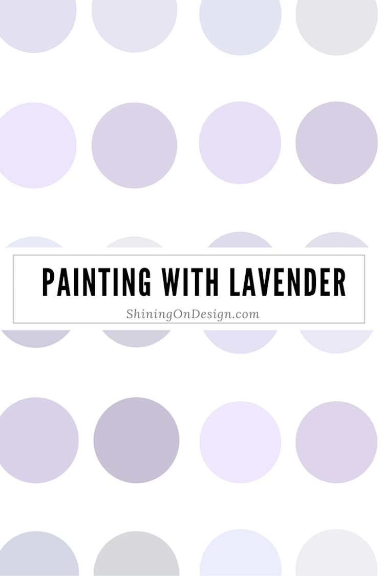 painting with lavender