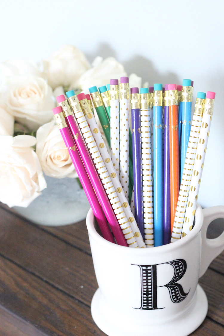 kate spade inspired pencils