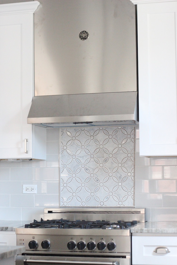 My absolute favorite part of this project was the backsplash. The accent tile behind the stove is a beautiful, timeless pattern. I will have this all over my dream house one day :)