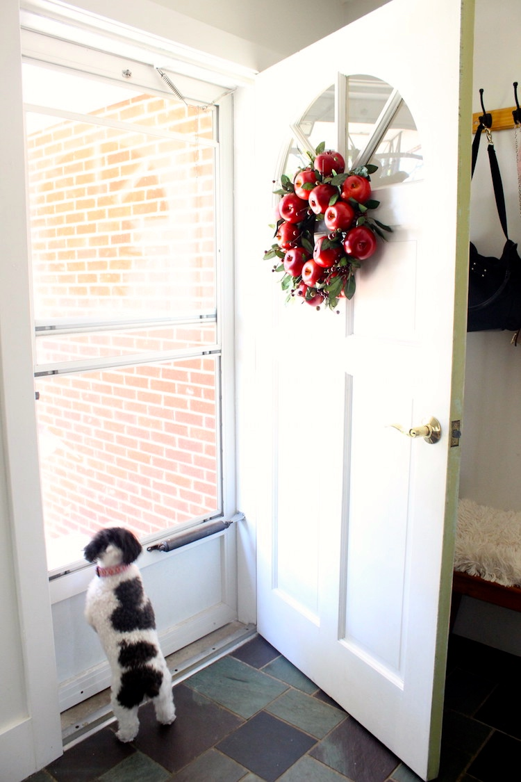 1. On Your Front Door/ Entry (the most obvious way!) Front door, classroom door, entry gate or hung on a fence - a wreath gives a warm welcome to guests. Whether you go all out for seasonal decor, or just want to add a couple things, I recommend starting with your entry.
