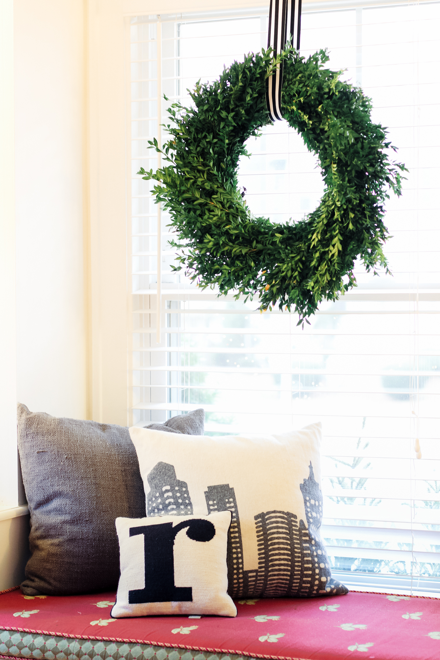 Don't go Griswold Relax! Keep the decor simple with a few key pieces in each room. A statement centerpiece for the dining room, wreath for the front door or hanging in front of a large window, etc.