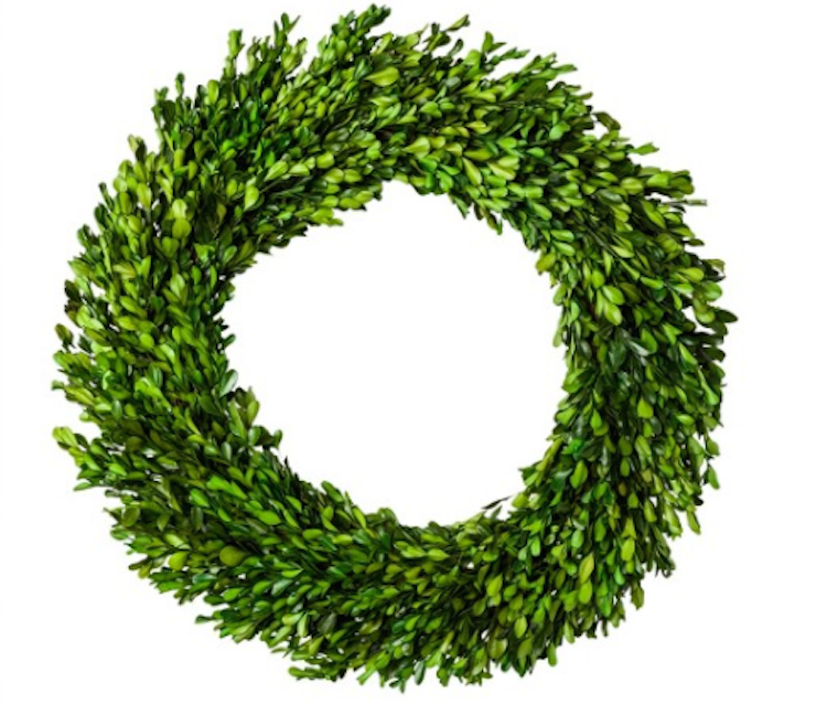 Boxwood Wreath (on sale now!!) I went with the real thing this year, and added a little a black and white striped ribbon, but couldn't help but include this fabulous deal. It's a steal if you go faux!
