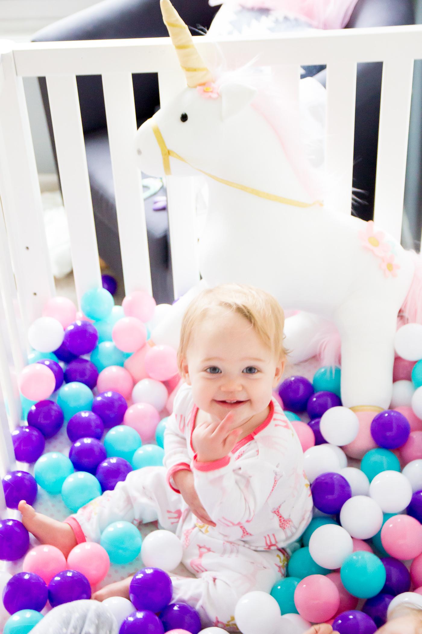 First Birthday Unicorn Party Decor Balls