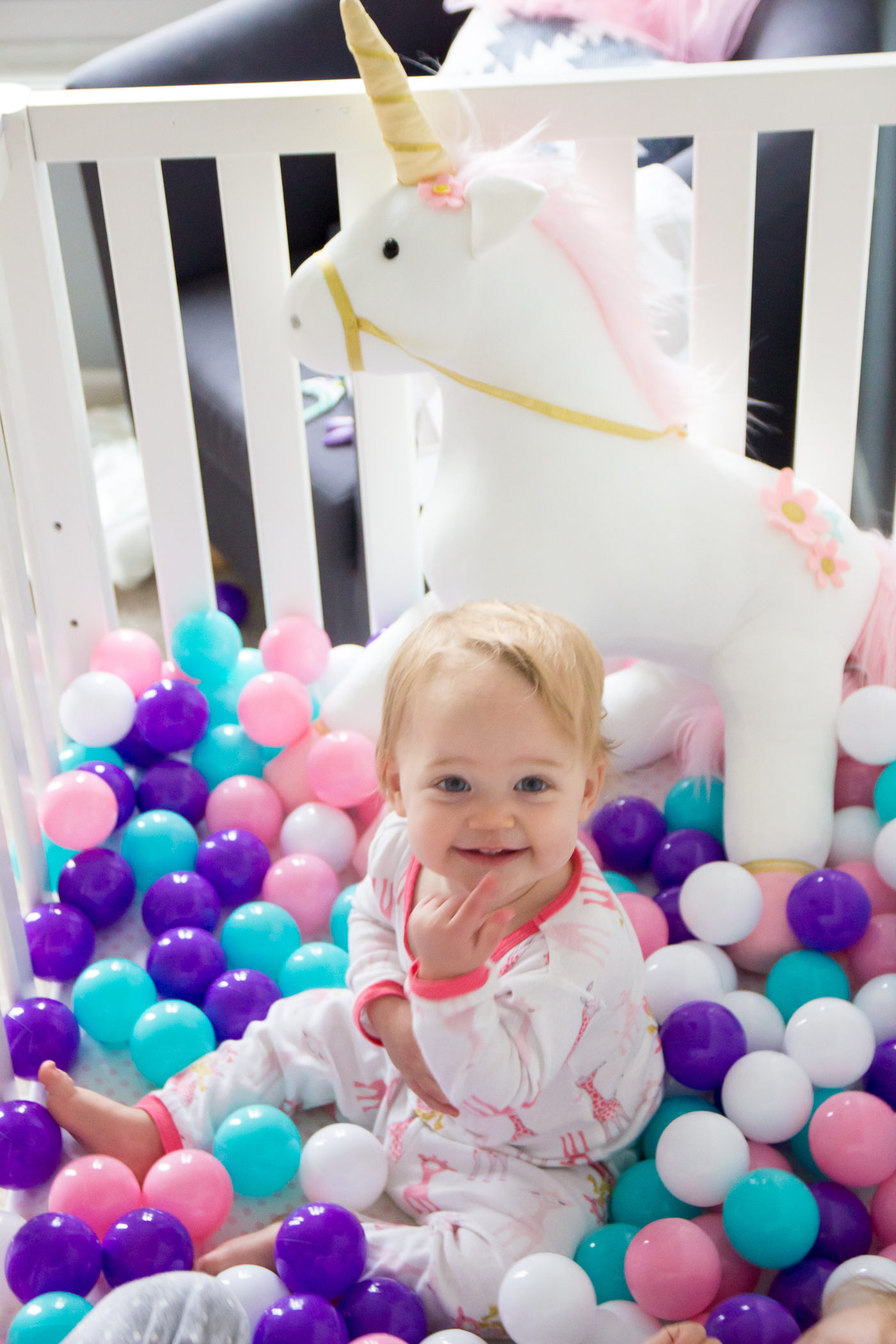 First Birthday Unicorn Party Decor Balls