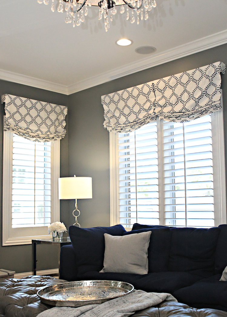 incredible living room window treatments | Before & After: Family Room for 5 | Shining on Design