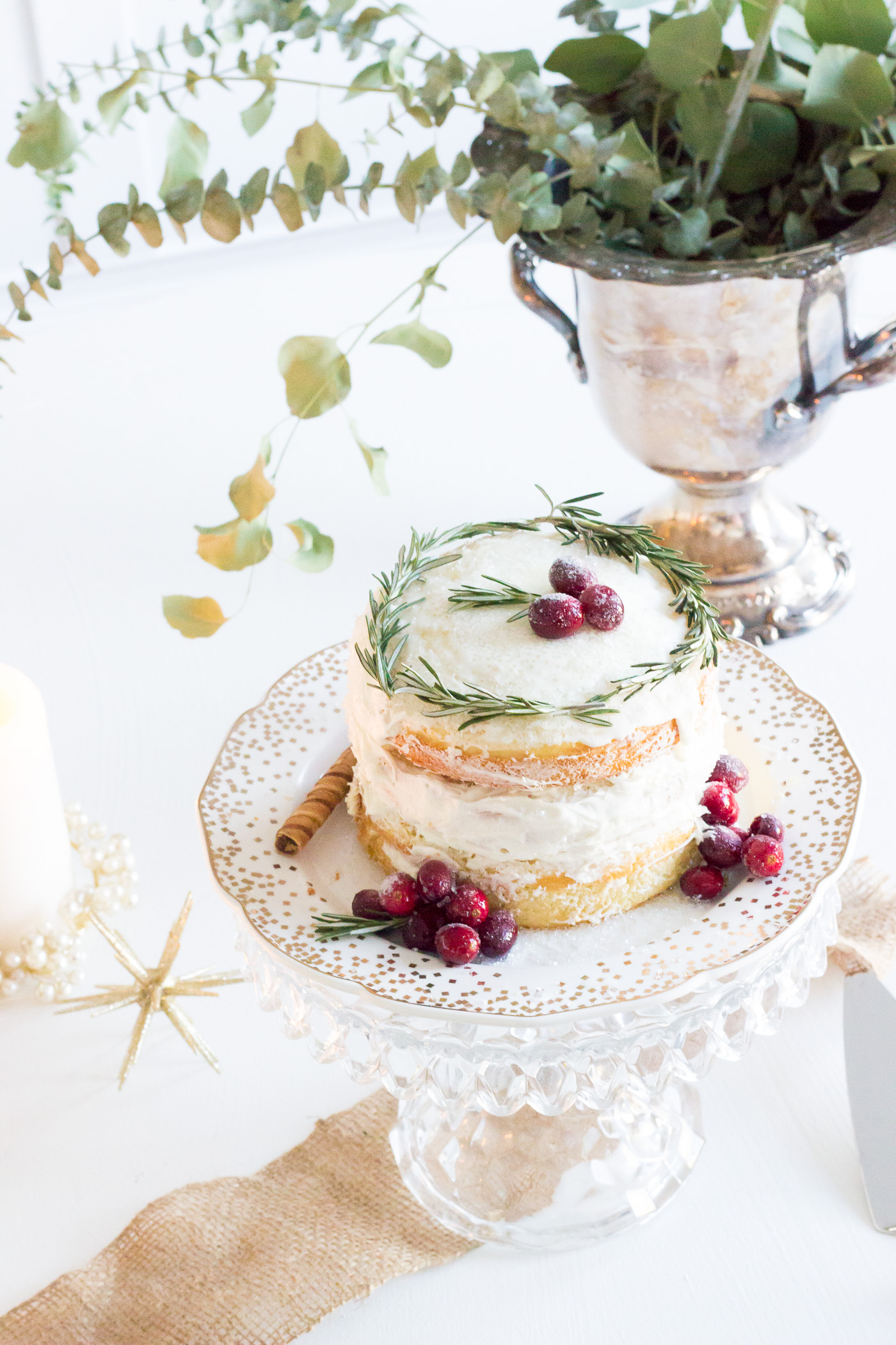 My favorite this year was this naked cake. I've been seeing naked cakes everywhere on pinterest and instagram lately and just love how they look. They are beautiful and look EFFORTLESS.