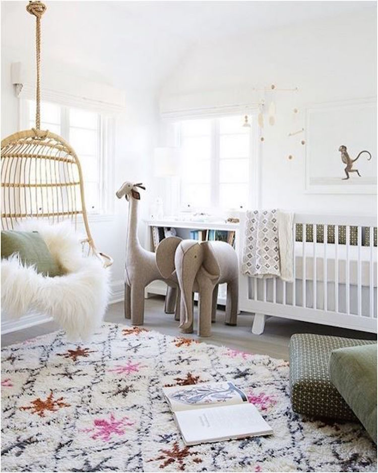 Nursery Inspiration White Walls Shining On Design