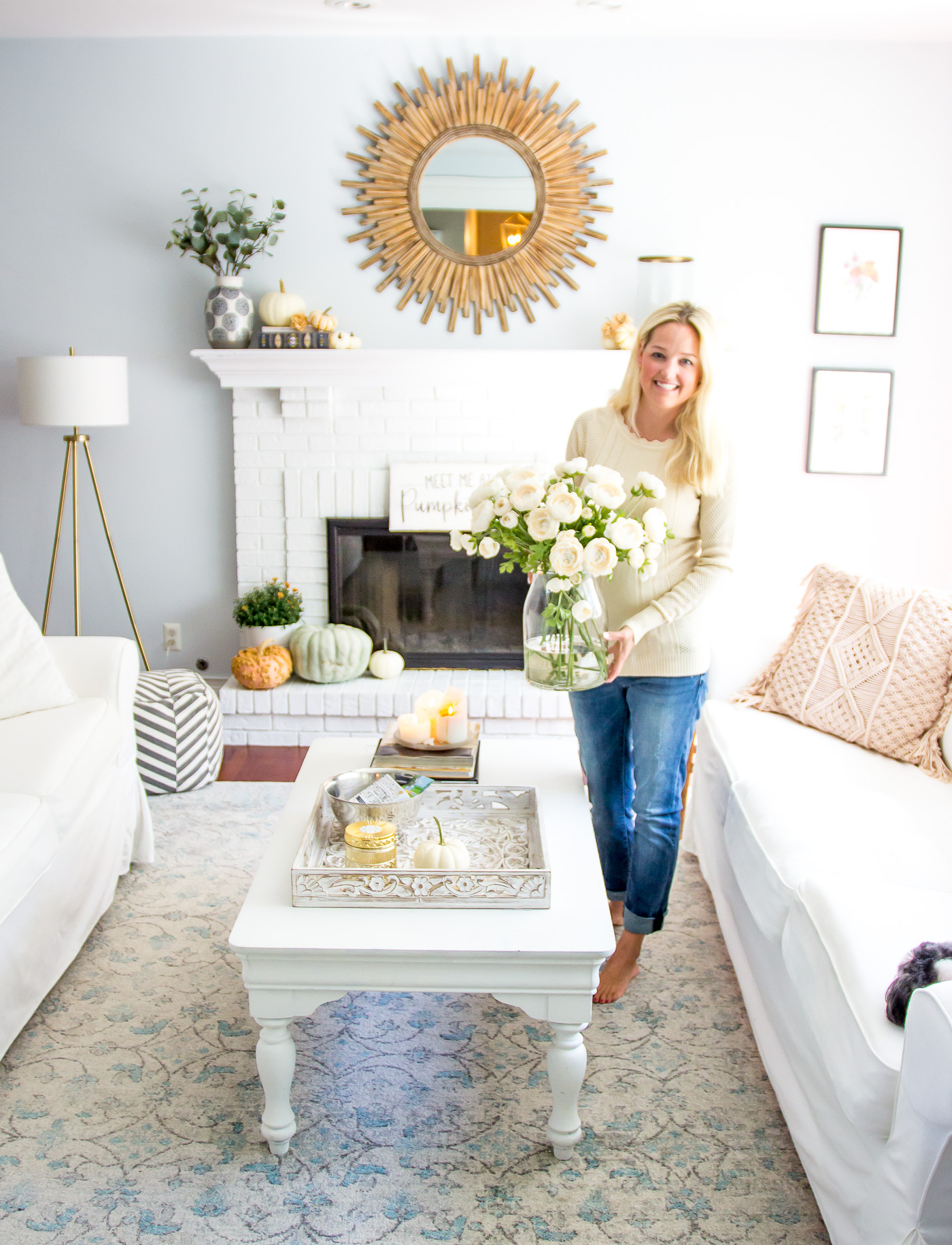 Autumn Living Room Tour Shining On Design