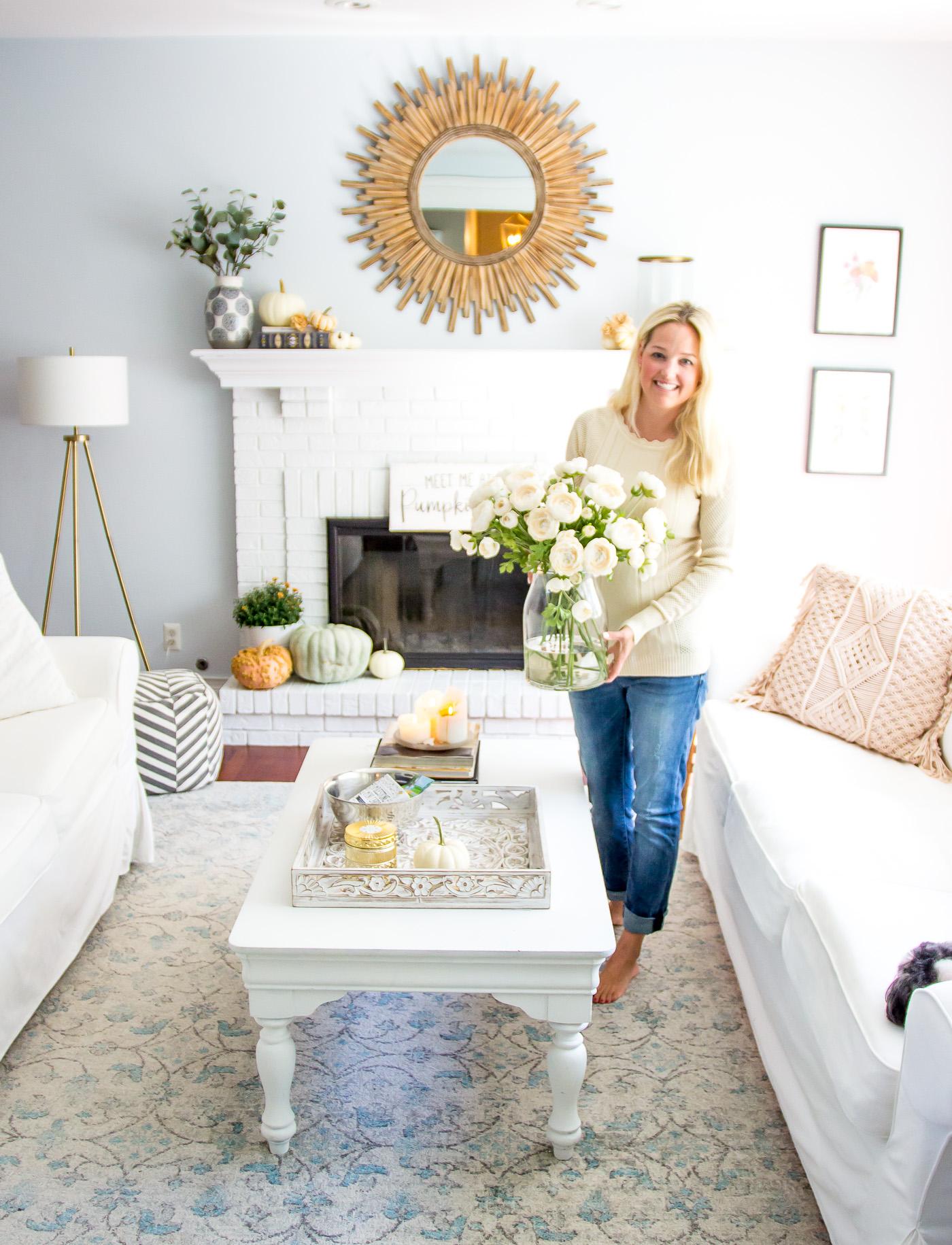 Autumn Living Room Decorating Ideas: Autumn Living Room Tour