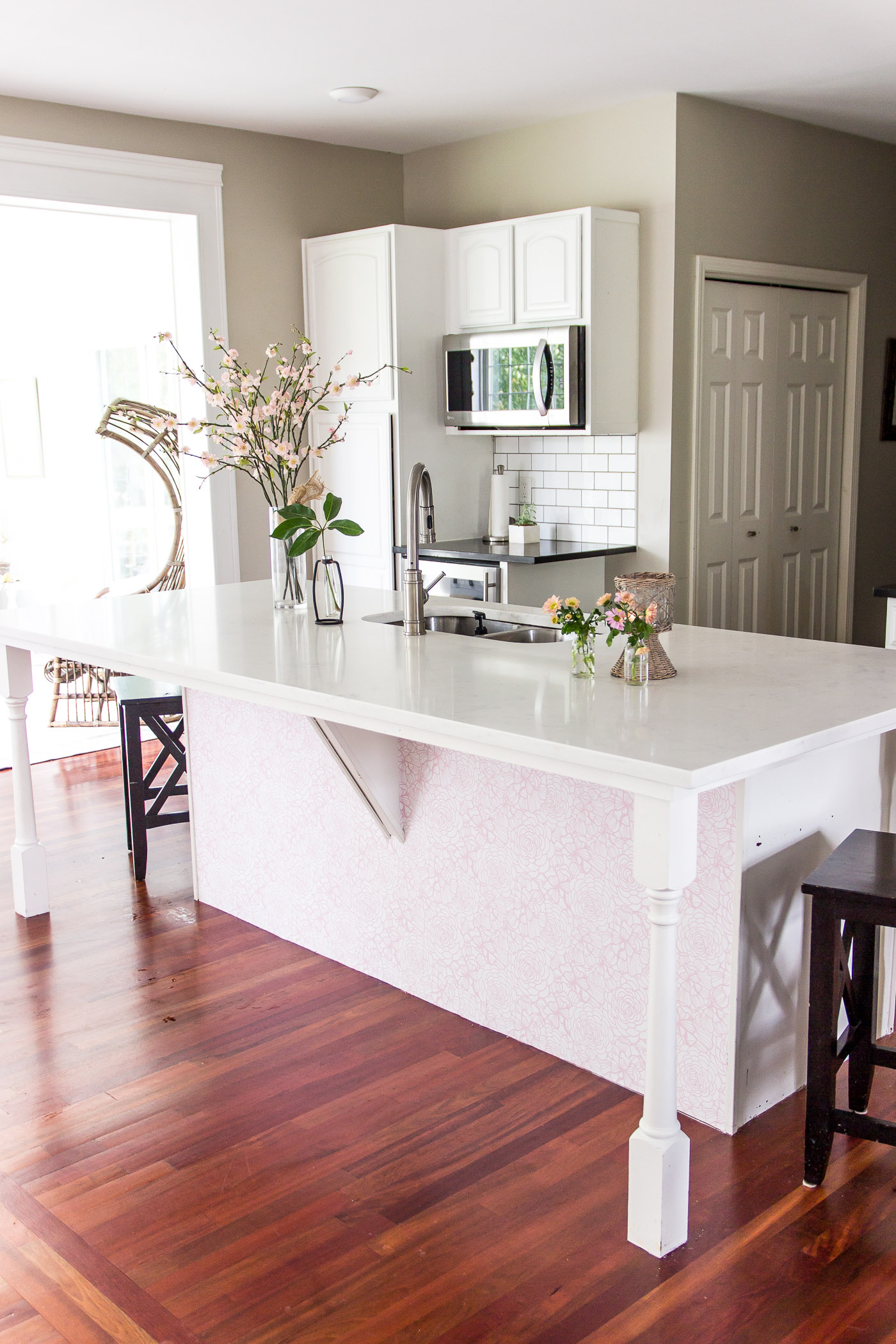 10 Kitchen And Home Decor Items Every 20 Something Needs: The Time I Wallpapered Our Kitchen Island.....