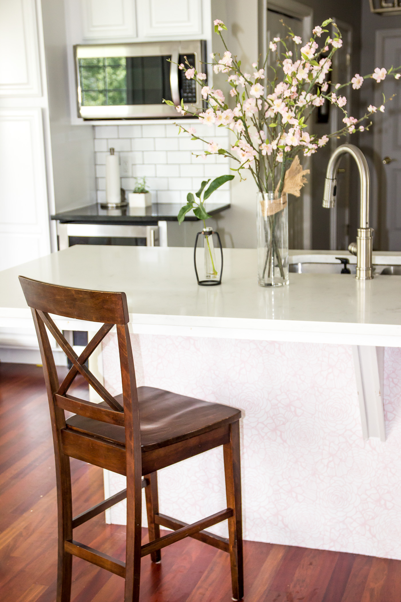 The Time I Wallpapered Our Kitchen Island Shining On Design