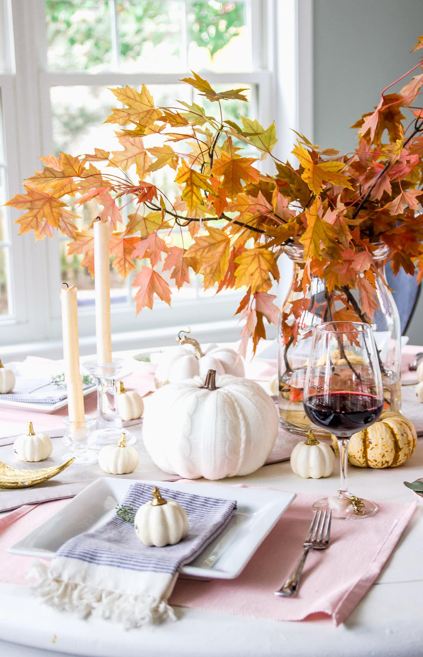 Thanksgiving Centerpiece Round Table 1